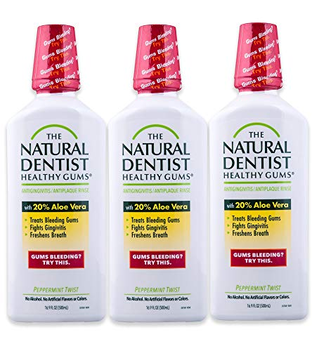 Natural Dentist Healthy Gums Mouth Wash, Peppermint Twist, 16.9 Fl Oz (Pack of 3)