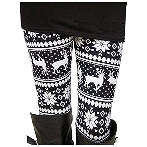 Uaderize Womens Ultra Soft Brushed Christmas Leggings Pants Fleece Lined Plus Size 2XL