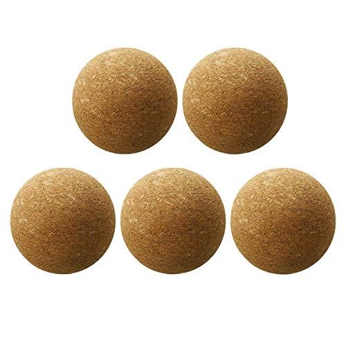 Jaimenalin 5 Piezas de Bola de Corcho de Vino, TapóN de Bola de Corcho de Madera para Reemplazo de Botella de Jarra de Decantador de Vino (2,36 Pulgadas / 6 Cm)