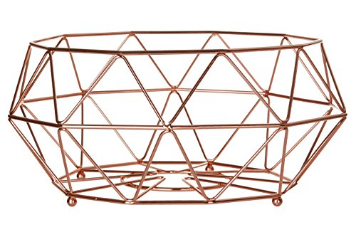 Premier Housewares Vertex, verkupfert, Metall, Kupfer, 32 x 32 x 15 cm, Kupferbeschichteter Eisendraht, 32x32x15