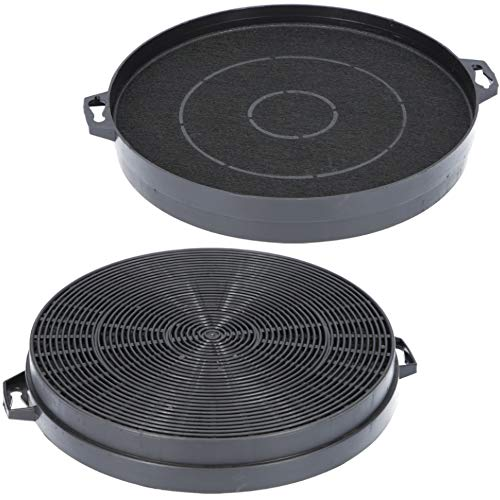 Filtro de carbón activo de 210 mm de diámetro para campana extractora, adecuado como alternativa para filtro de carbón 9029801520 + 00353121, para extractor de humos AEG, Bosch, Siemens, etc.