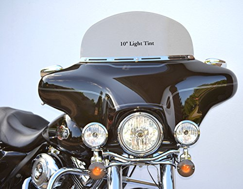 10' LT-1 Light Gray Tint Windshield to Fit Harley Davidson 1996 to 2013