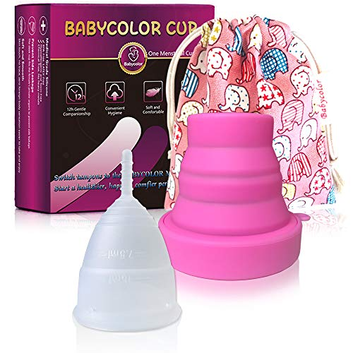 Menstrual Cups, Menstrual Cup Set Super Soft and Premium Quality Medical Grade Silicone, Period Cup Alternative to Tampons Sanitary Towels