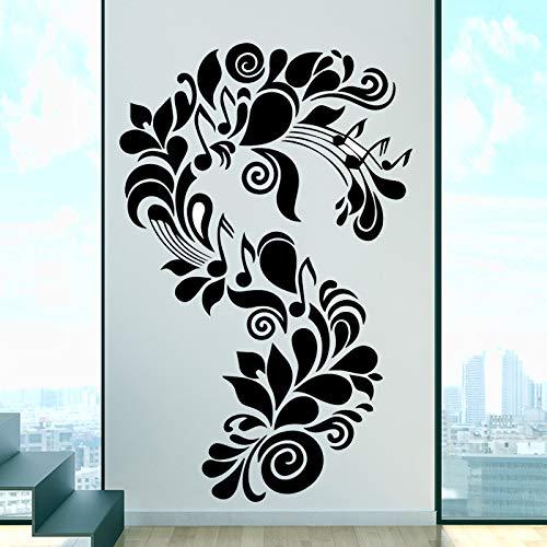 YuanMinglu Große Kunst Pflanze Vinyl Wandaufkleber Küchentapete Kinderzimmer Dekoration Aufkleber schwarz XL 58cm X 90cm