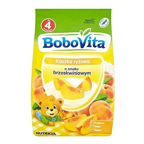 Bobovita Rice Gruel with Peaches for Babies (180g/6.3oz)