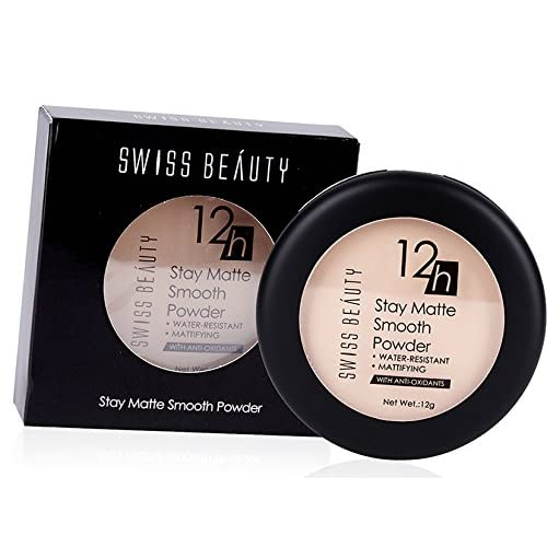 Swiss Beauty 12 Hours Stay Matte Smooth Water Resistant Compact Powder, 12g (Color - 01)