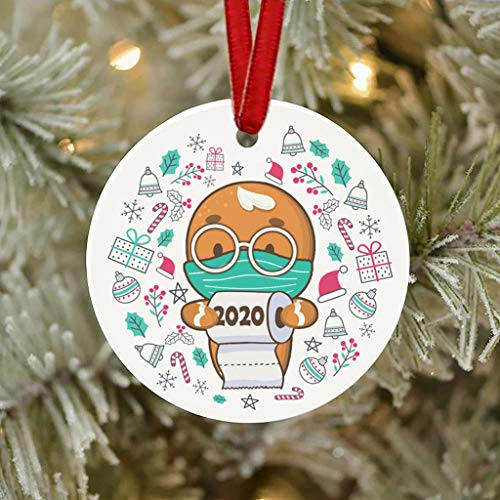 Wearing Mask Ornaments,2020 Badly,But Merry Christmas Tree Decoration