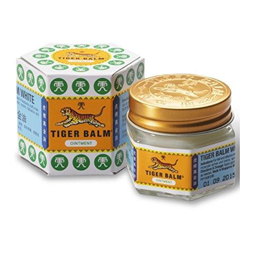 Balsamo di Tigre Bianco Originale Tiger Balm - per mal di testa, dolori muscolari, infiammazioni, 19.4 gr