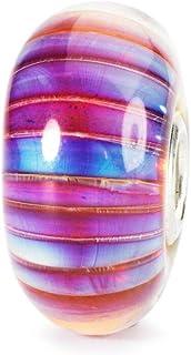 Trollbeads TGLBE-10172 - Charm da donna, in argento sterling 925, con vetro multicolore