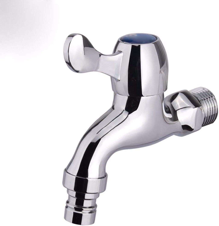HUAIX Home Waschbecken-Mischbatterie Badezimmer-Küchen-Becken-Hahn auslaufsicher Wasser sparen Kupfer-Einzelne Kaltwasserdüse Universal