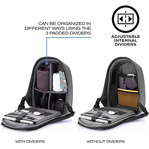 XD Design Bobby Tech Anti-Theft Backpack Wireless Solar Panel Charger USB/Type C