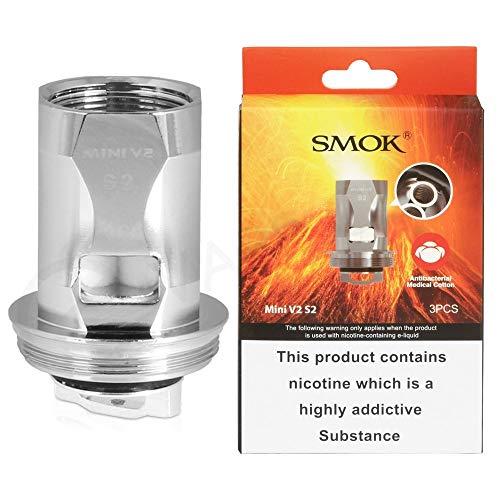 SMOK TFV8 Baby V2 S2 0.15ohm Bobinas de plata (paquete de 3) Sin nicotina ni tabaco