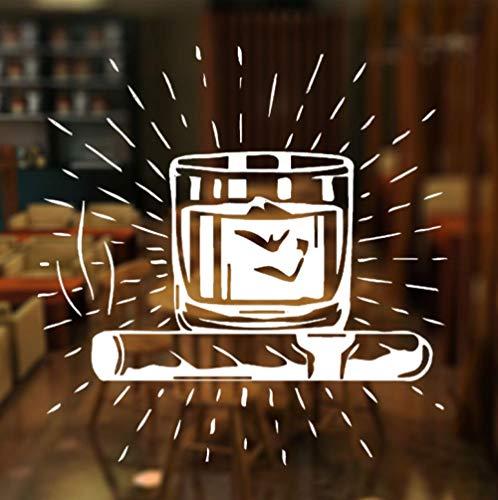 Muursticker Woonkamer Woondecoratie Slaapkamer Creatieve Kwekerij Kinderen Vinyl DIY Art Decal 42X43Cm Alcoholische Drank Venster
