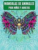 Mandalas de animales Para niños y adultos: 65 mandalas de animales de gatos, perros, caballos, pájaros y muchas otras...