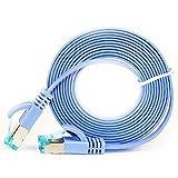 PULABO Cable Ethernet Ethernet LAN Cable de red RJ45 Patch Cord Diseño plano Material de cobre para router Switch Patch Panel 0,5 m, azul de calidad superior y exquisita artesanía creativa