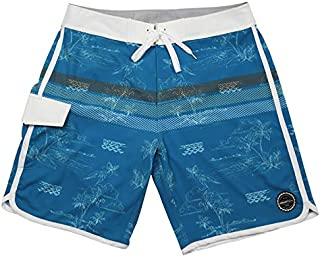 ISLAND DAZE BBO - Mens Boardshort Bottle Opener Surf, Swim Tailgate Quick Dry Swim Trunks