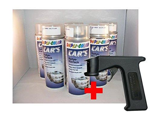 Dupli Color Car 's barniz Rallye 6x 400ml latas + Spray Master (como Pistola) Cars