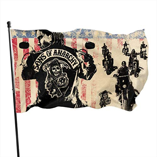 Viplili Banderas, Classic Outdoor Sons of Anarchy Garden Flag 3x5ft