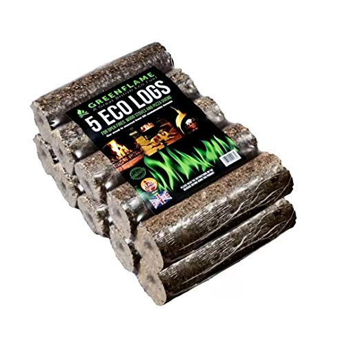 Greenflame 30kg Premium Eco Heat Logs - Briquettes Perfect for Burning on Open Fires, Pizza Oven, Fire Pit & Wood Burners - Greener Way to Heat Your Home