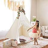 Bekanntes Tipi-Zelt aus Spitze für Kinder, zusammenklappbar, Spielhaus mit Tasche für Zuhause,...