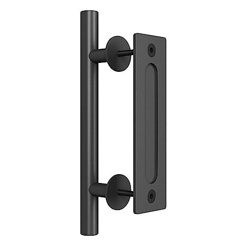 Matte Black Side Mount Handle Pull for Wood Door American Style