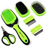 PetHaven Dog Brush & Cat Brush 6 in 1 Pet Grooming Kit Shedding De-matting Slicker Comb For Undercoat Long Short Haired Small Medium Large-Pet Hair Remover Dog Accessories & Dog Nail Trimmer