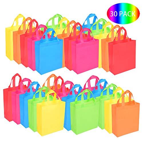 30 Bolsas para Regalo Bolsas de Fiesta con Asas Bolsas de Mano no Tejidas Juguete Goody Favor Bolsa para Baby...