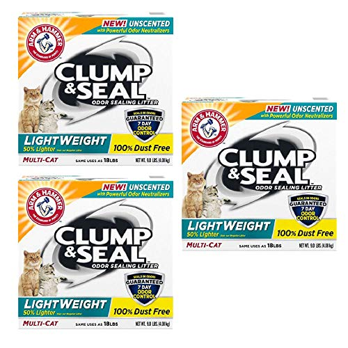 Arm & Hammer Clump & Seal Lightweight Unscented Clumping Cat Litter (27 LBS)