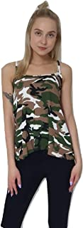 Momo&Ayat Fashions Ladies Cami Sleeveless Printed Swing Vest Top Strappy Lightweight Top Size 8-26