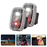 MapleSeeker Bike Lights, Dog Collar Light, Running Light for Runners, Bike Tail Light, High Visibility for Cycling, Hiking, Dogs and Kids, Clip On LED Light with 5 Lighting Modes (2-Pack Black)