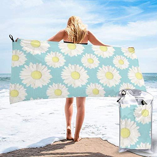 Toallas de Playa de Antiarena de Microfibra para Hombre Mujer, 130x80cm, Toallas Baño Calidad Gigante Secado Rapido para Piscina, Manta Playa, Toalla Yoga Deporte Gimnasio,Flores de Sol