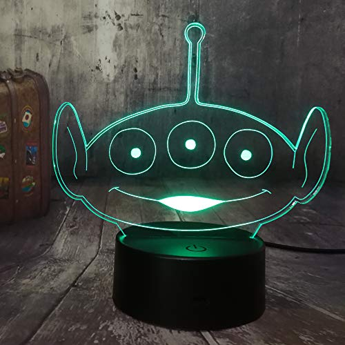 Alien 3D Led Night Light Bureau Lampe 7 Couleur Kid Jouets Room Decor Cadeau D'Anniversaire De Noël