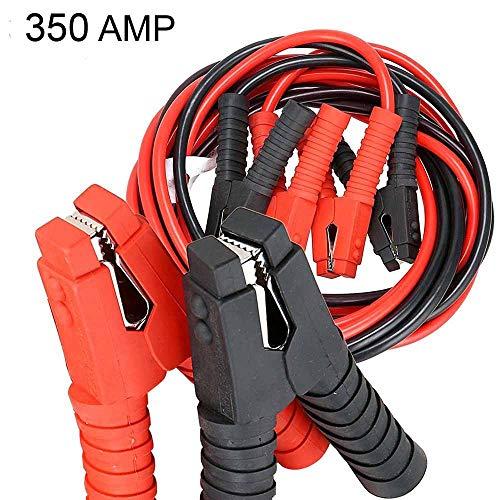 DOBO Cavi avviamento 350 AMP Batteria Auto Moto Camper 12V 24V Camion Cavi Positivo/Negativo 4 Metri Morsetti Gomma Rosso/Nero Diametro Cavo 25 mm2