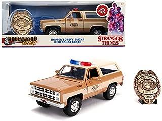StarSun Depot New Hopper's Chevrolet Blazer with Police Badge Hawkins Police Dept. Stranger Things (2016) TV Series 1/24 Diecast Model Car by Jada