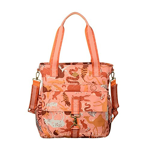 Oilily Sahara Zoo Shopper Baby Bag Pink Flamingo