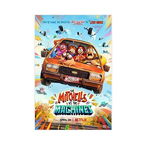 Anime The Mitchells Vs. The Machines Cover Canvas Poster Slaapkamer Decor Sport Landschap Kantoor Kamer Decor Gift…