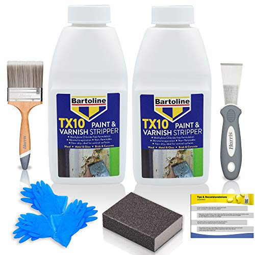 Paint Stripper for Wood and Metal - 2 x 500ml Solution Bundled with All You Need -...