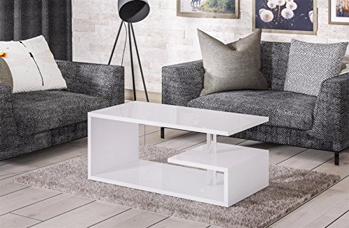 Endo salontafel Mio woonkamertafel 100 x 55 cm modern tafelblad 100 cm design Wit hoogglans