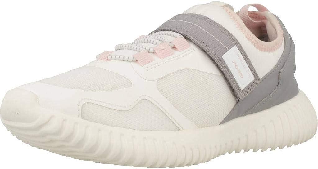 Geox Respira Girls Waviness Slip On Running Shoes White 5 Medium (B,M) Big Kid