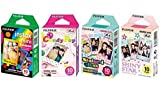 Fujifilm InstaX Mini Instant Film Rainbow & Staind Glass & Candy Pop &...