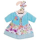 Bigjigs Toys Strickjacke und Kleid (Türkis) (für 28cm Puppe)