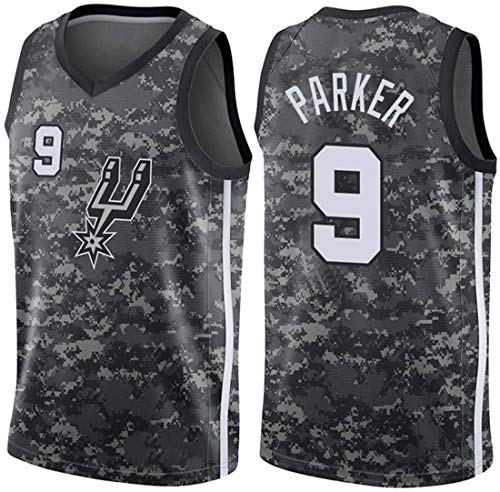 BPZ NBA Jersey, Ropa de Baloncesto para Hombre Tony Parker 9# San Antonio Spurs Jerseys, Tejido Fresco Transpirable All-Star Unisex Uniforme de Fan,3,XXL(185~190CM/95~110KG)