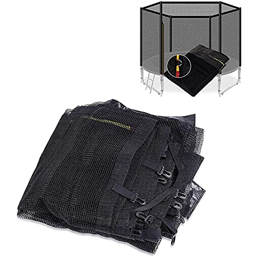 HJCC Red de seguridad para cama elástica de repuesto, para trampolines, accesorios de polietileno, resistente, se adapta a la mayoría de trampolines de jardín al aire libre, 305 cm, 6 polos