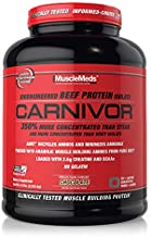 MuscleMeds Carnivor Beef Protein Isolate Powder, Chocolate, 56 Servings, 4.5 Pound