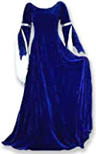 Velvet Renaissance Medieval Gown with Satin Lined Arm Tippets