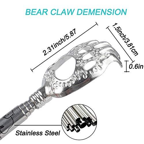 WOVTE Bear Claw Black Telescopic Back Scratcher
