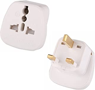 INIBUD Pack of 2 AU Australia NZ to UK Hong Kong Singapore Travel Adapter White Plug