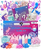 Original Stationery Mystery Slime Kit Surprise - DIY Slime Supplies Kit with Mystery Slime Box Add Ins for Fluffy,...