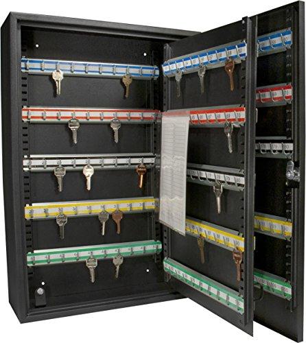 Barska AX11824 Key Lock 200 Position Adjustable Key Cabinet Lock Box Black,Medium
