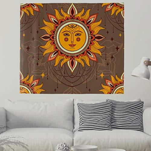 Indisch Sunset Hippie Bohemian Tapisserie nappe de plage 150x130cm marron